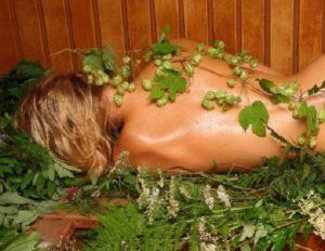 травы в бане