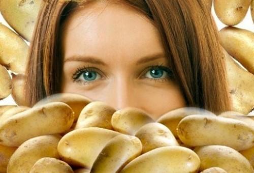 польза картофеля для красоты