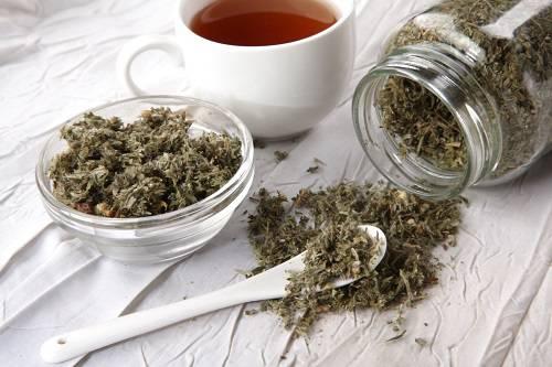 сухая трава курильского чая