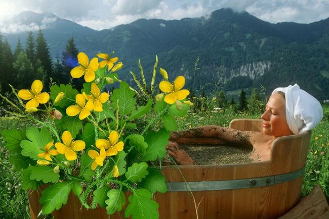 лечение ваннами из чистотела