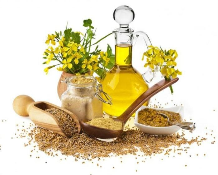 соцветия и масло горчицы
