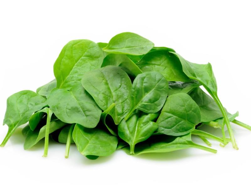 зеленые листья шпината