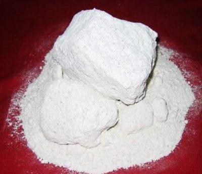 сухая белая глина