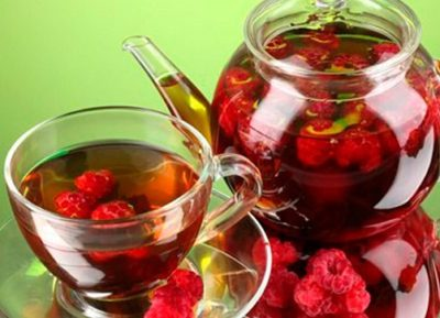 чай с малиной от ангины