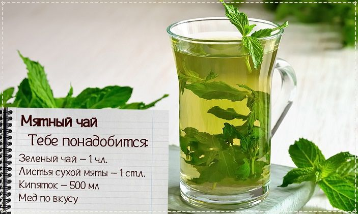 чай с мятой от простуды