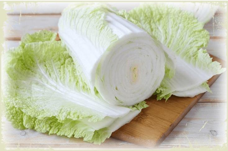 лист китайской капусты